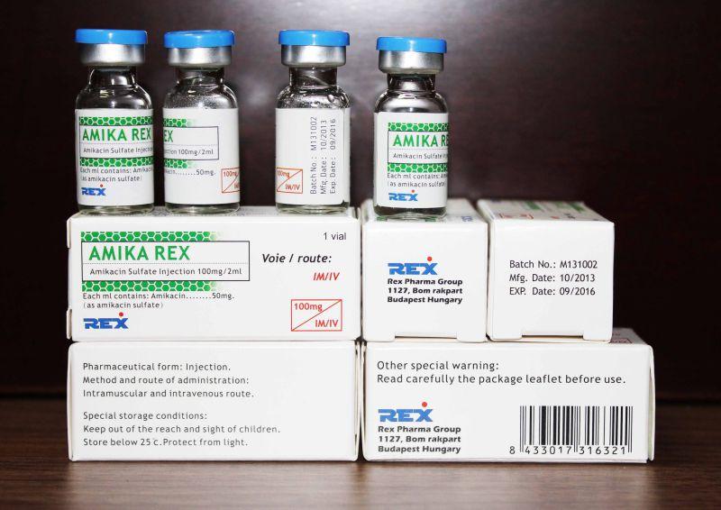 Amikacin Injection 100mg/2ml, 500mg/2ml & Actd/Ctd Dossier of Amikacin