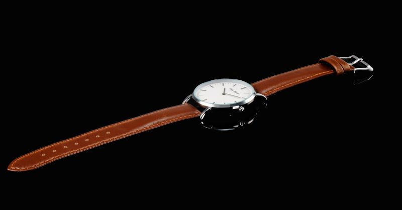 Slier Wristwatch Leather Strap Watch for Unisex