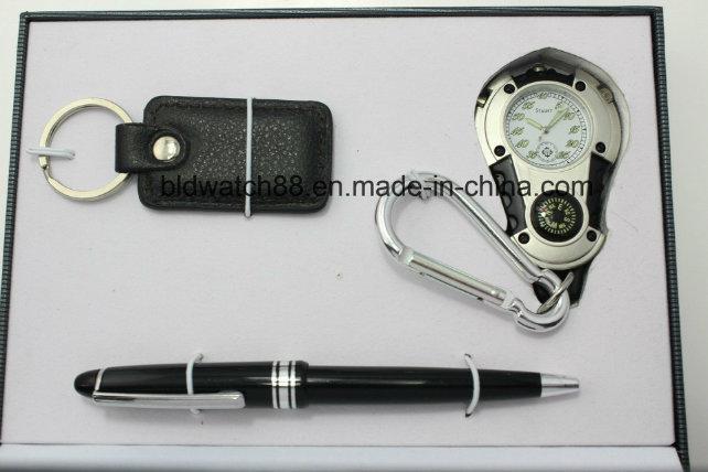 Pocket Watch Gift Set with Key Pendant