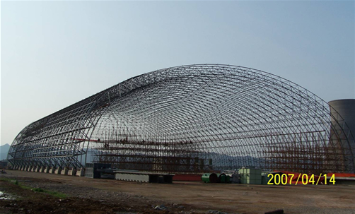 Steel Structure Steel Space Coal Storage Shed as Warehouse Roof Steel Frame