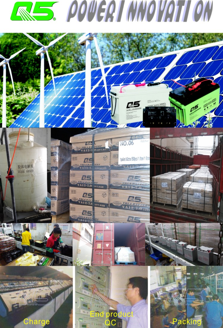 12V24AH Solar Battery GEL Battery Standard Products