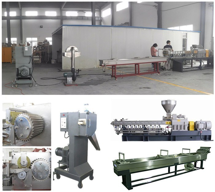 Fiber Glass Plastic Pelletizing Twin Screw Extruder