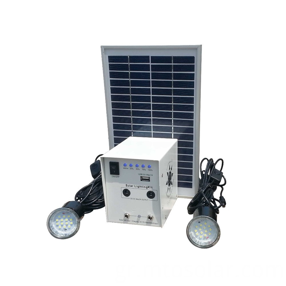 Indoor 5w Solar Light Kit