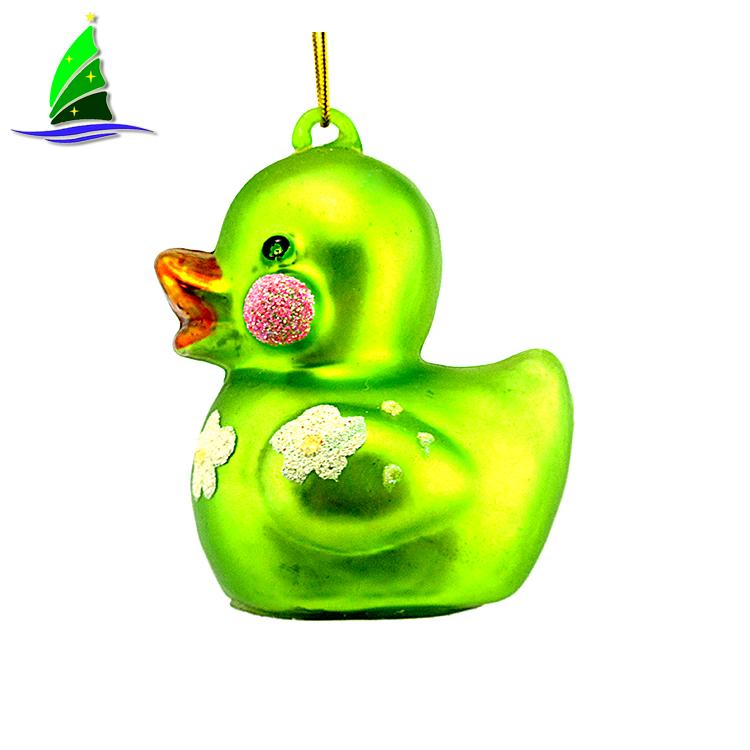 Glass Animal Figurines Duck