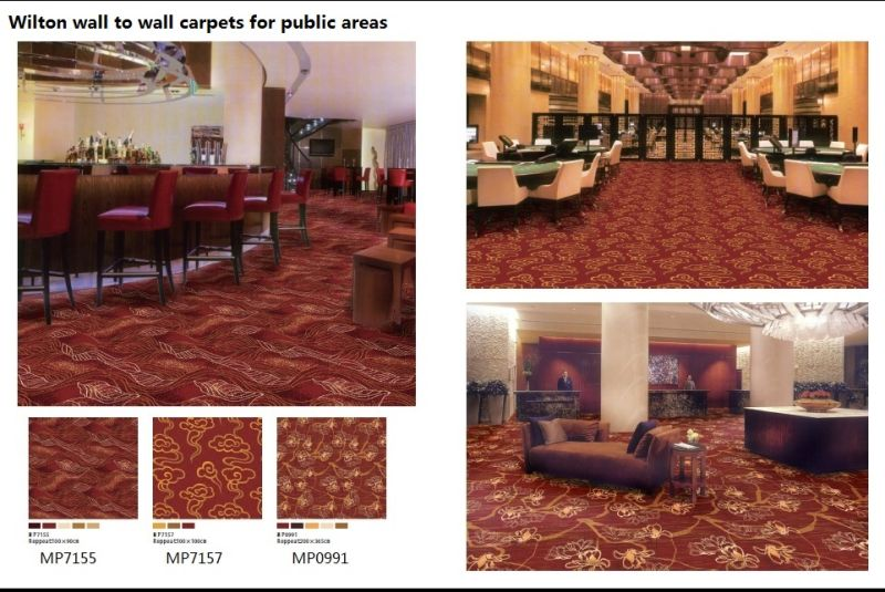 Machine Made Wilton Wool Broadloom Carpet for Commercal