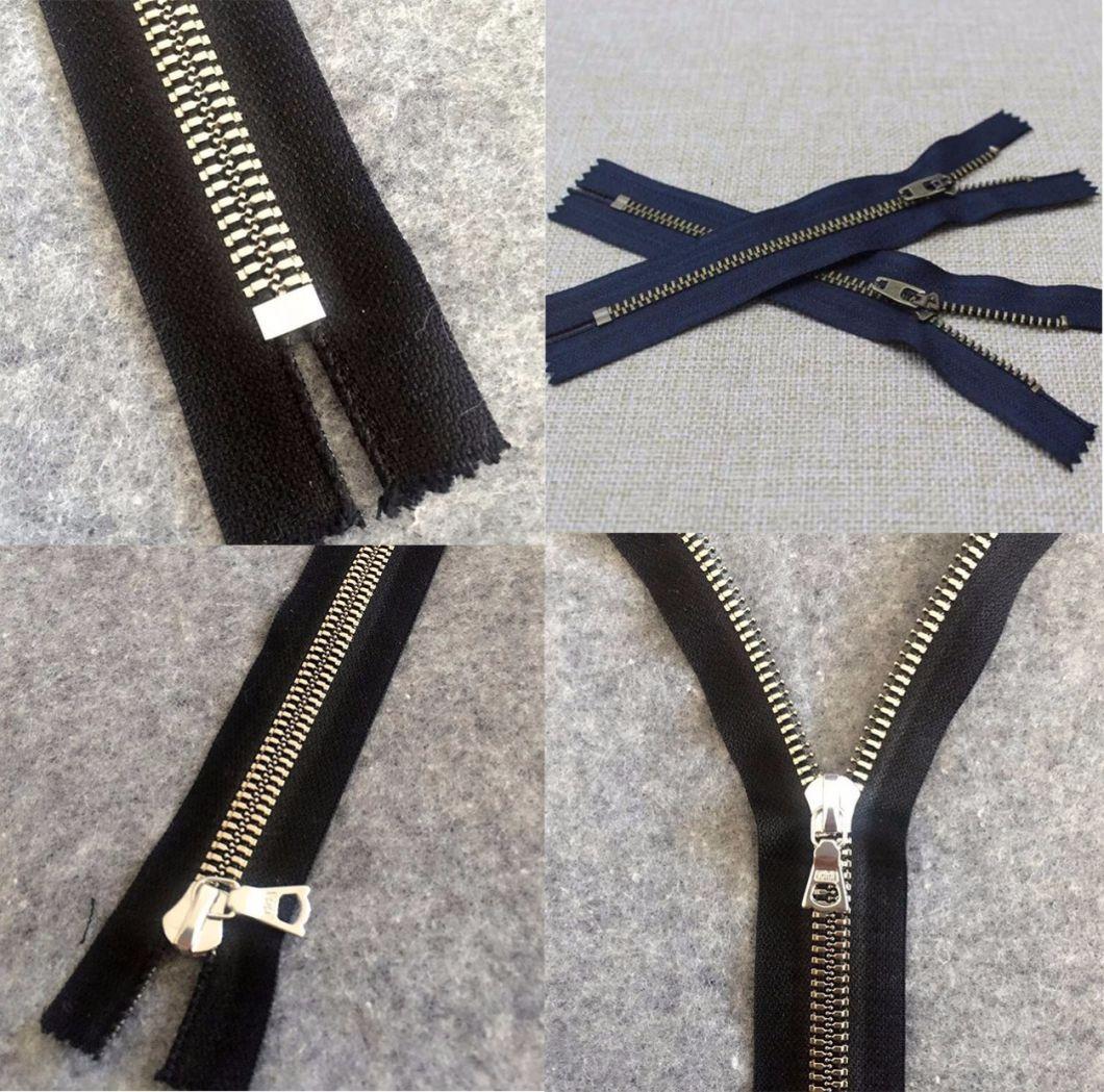 High Quality Closed-End Handbag Brass Zippers