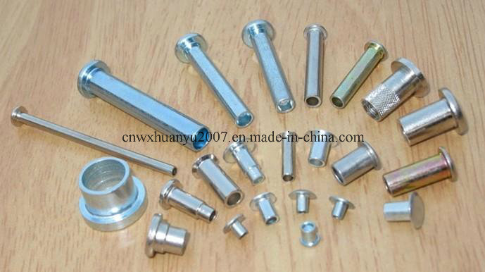 Parallel Pins Without Hole Blue Zinc Plated