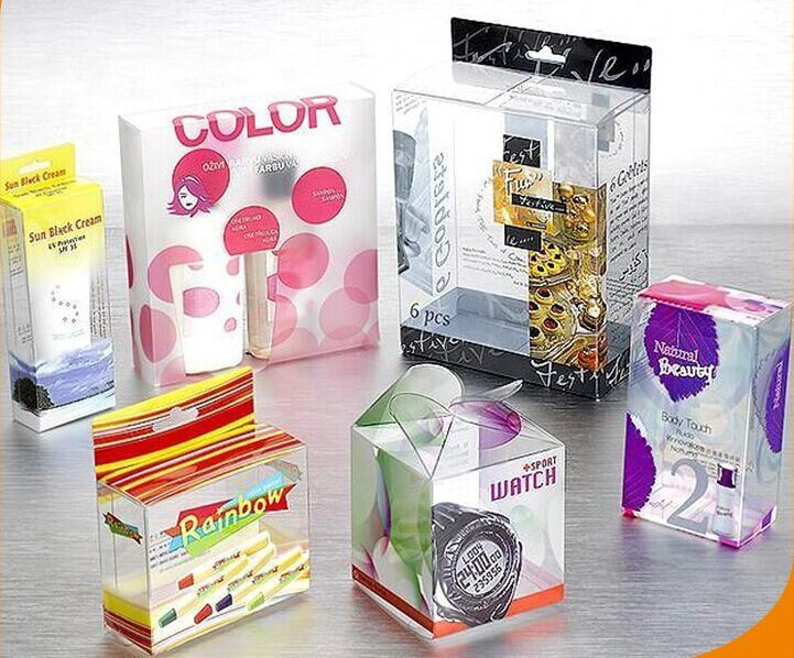 Custom Design Transparent Plastic PVC Boxes for Packaging Products