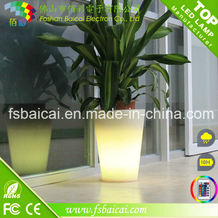 Home Decorative Resin LED Lighting Garden Flower Pot