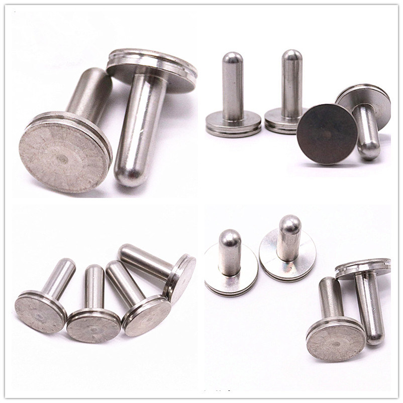304/316 Flat Large Head Stainless Steel Custom Made Industrial Fasteners Solid Blind Rivet