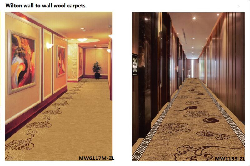 Wilton Woven Wall to Wall Broad Loom Wool Carpets