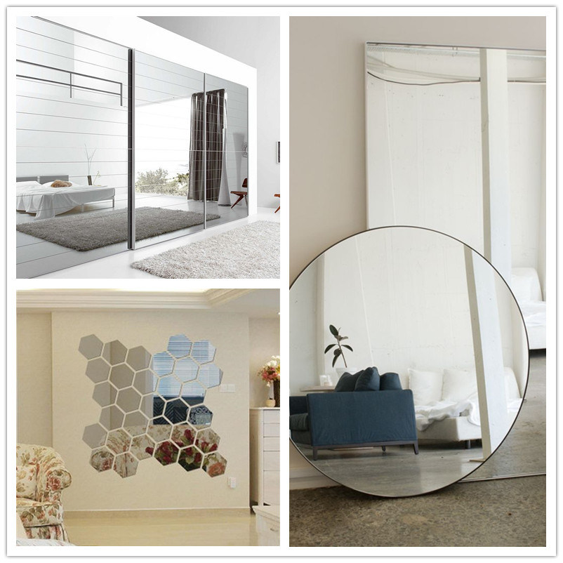 Customized High Quality Indoor Frameless Wall Mirror for Home Decoration