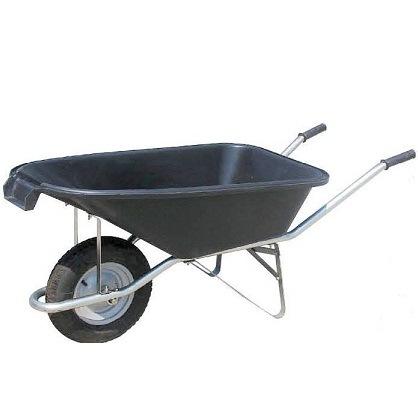 Dual Wheel Garden Tool Plastic Tray Wheelbarrow (WB5405)