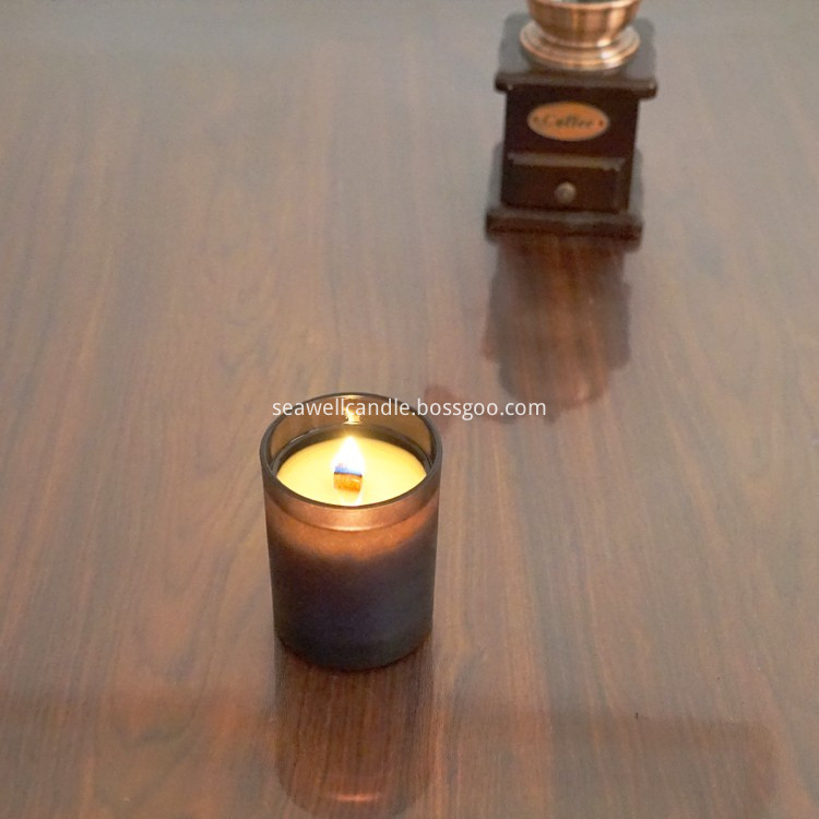 Wood Wick Black Jar Candle