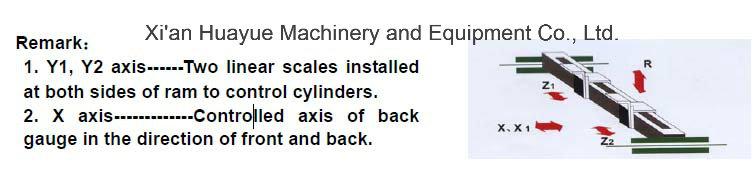We67k-200X4000 CNC Electro-Hydraulic Synchronous hydraulic press brake