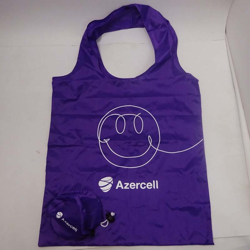 Promotional 190t Polyester Foldable Shopping Bag with Your Logo