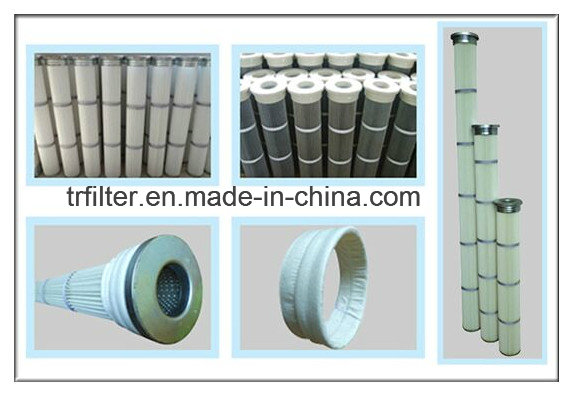 China Supplier 3 Lugs Flange Water& Oil Repellent Dust Collector Pleated Air Filter Cartridge