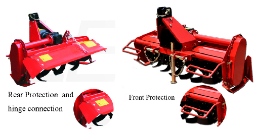Small Tractor Attachments 20-30HP 3 Pto Rotary Tiller
