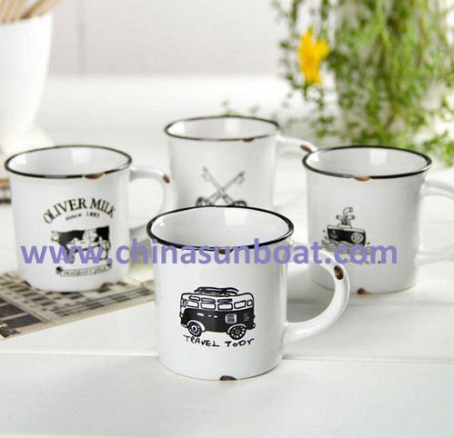 Sunboat Zakka Retro Creative Imitation Enamel Cup Coffee Cup / Mug Wholesale Nostalgic Tableware