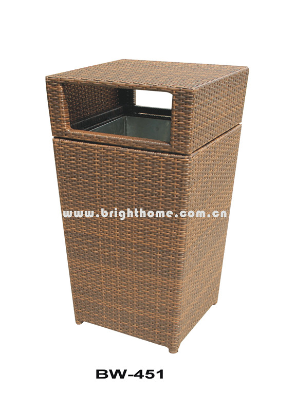 Rattan Wicker Hotel Garbage Can Bw-451