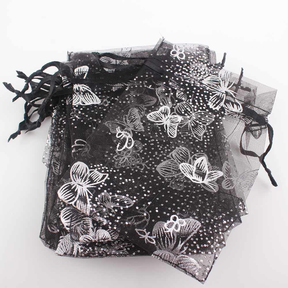 Colorful Butterfly Shaped Gift Packaging Organza Pouch Drawstring Bags Jewelry Bag (COB-1117)