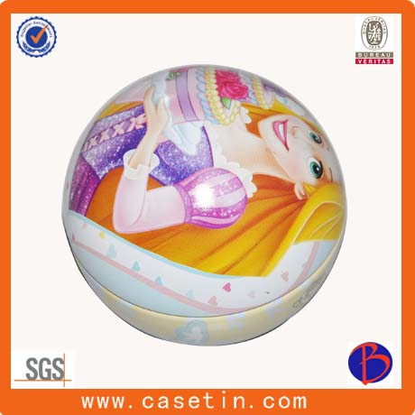 Christmas Ball Promotional Gift Tin Plate Box