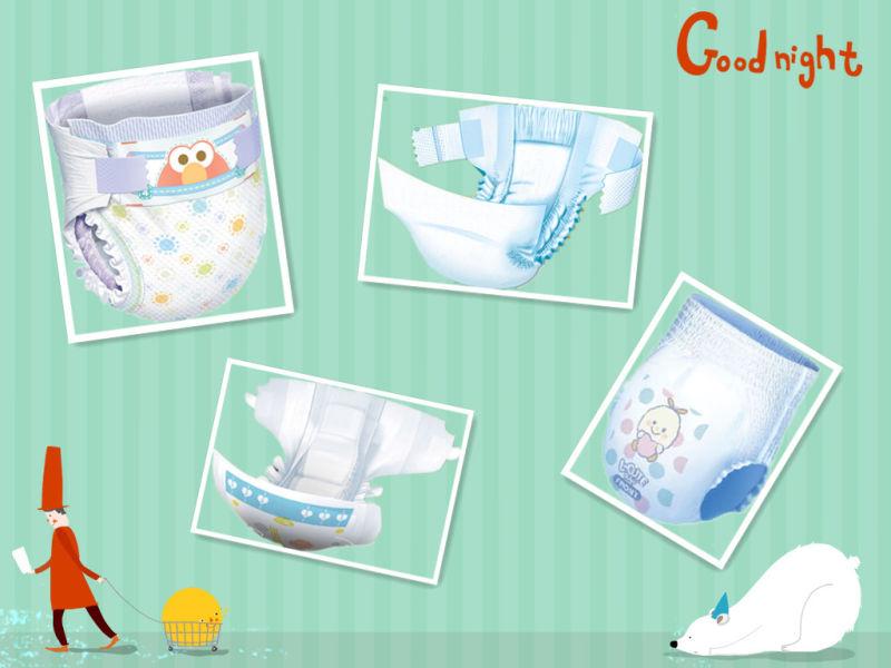 Full Servo Control Protection-Leakage Elastic Waist Band Baby Diaper Machine Baby Nappy Making Machine