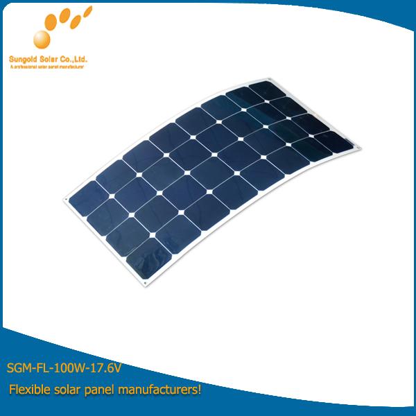 100W Mono Flexible Solar Power Panel