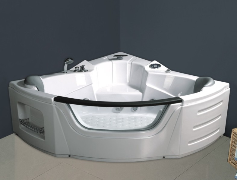 Double People Corner Indoor Jacuzzi Bathtub for Shower (CL-350)