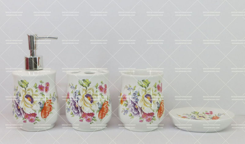 Flower Decorative Bathroom Set on Promotion