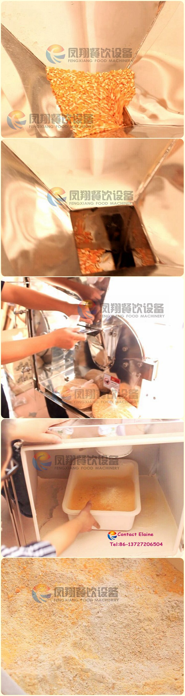 Automatic Corn Maize Rice Flour Milling Grinding Machine