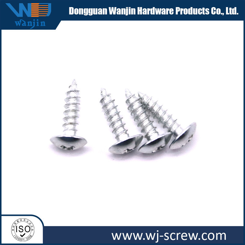 OEM Black Plated Round Head Stainless Steel Self-Tapping Machined Screw