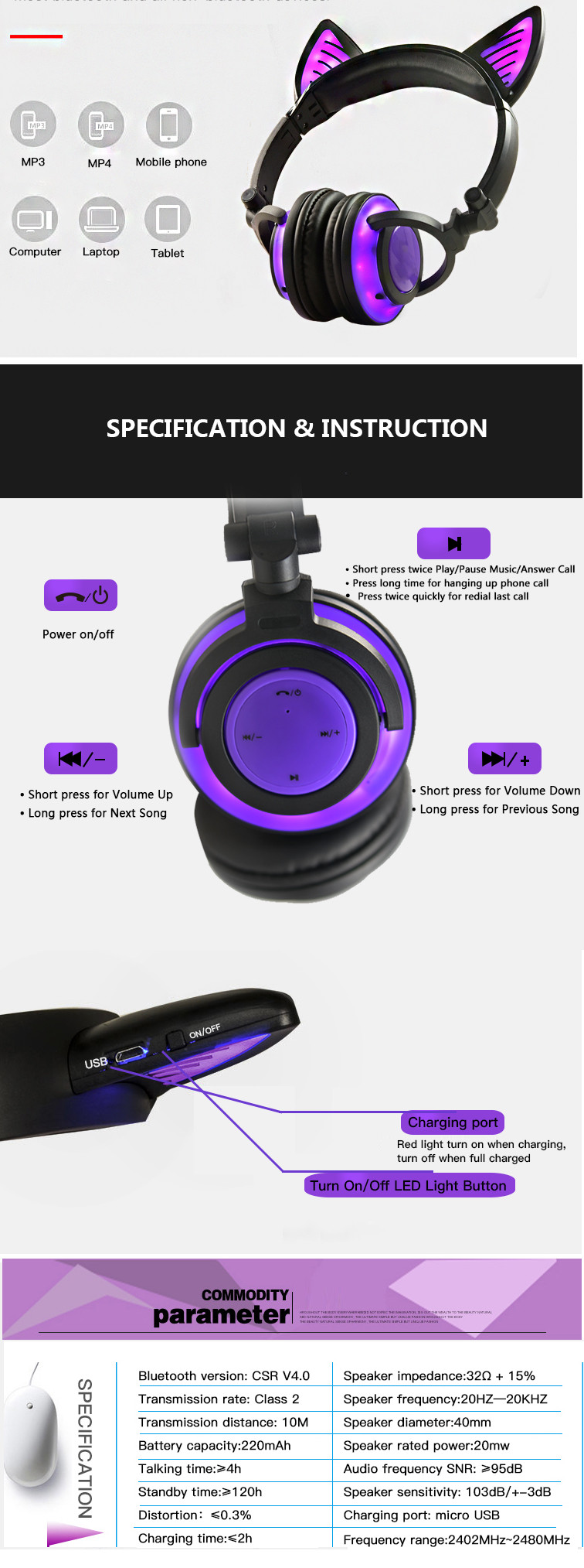 Features for Headphone