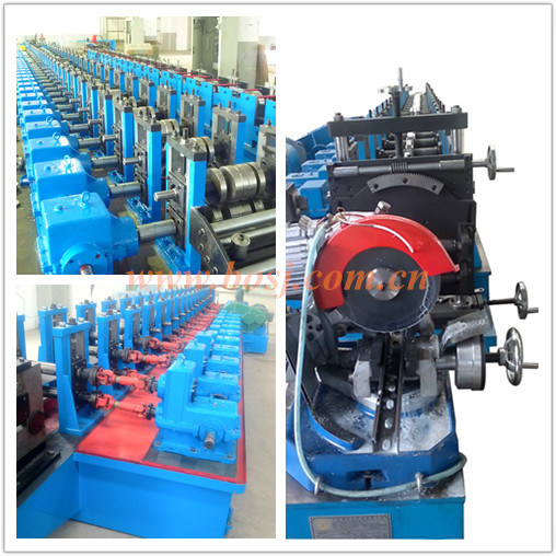 Galvaznied C Shaped Steel Profile Slotted Struct Channel Roll Forming Production Machine Malaysia