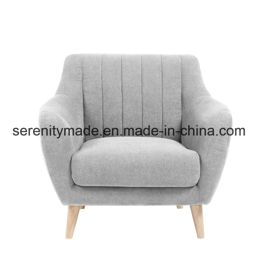 New Design Gray PU Leather/Linen/Velvet Fabric Sofa Chairs for Living Room