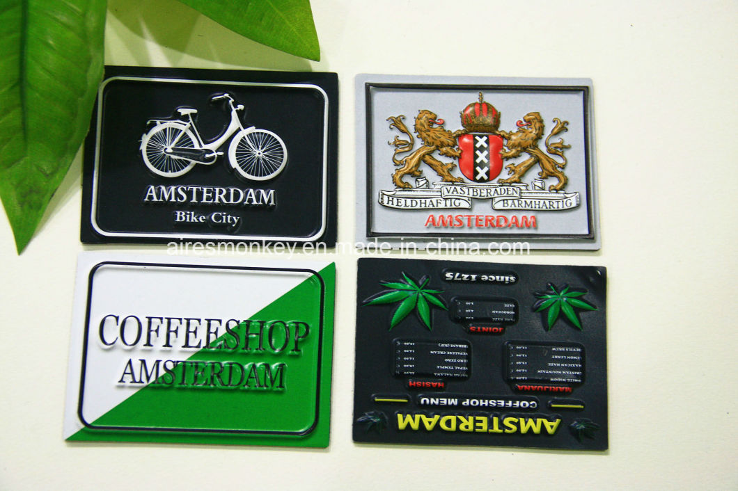 OEM 3D PVC Embossed Fridge Magnet of Holland Market
