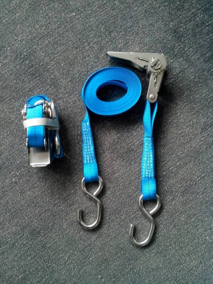 Ratchet Tie Down Strap with Double J Hook