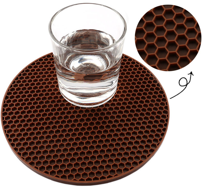 Cheapest Non Slip Dishwasher Safe Silicone Table Coffee Cup Mat