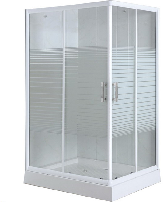 Stripe Glass Rectangle Shower Enclosure (ADL-8603)