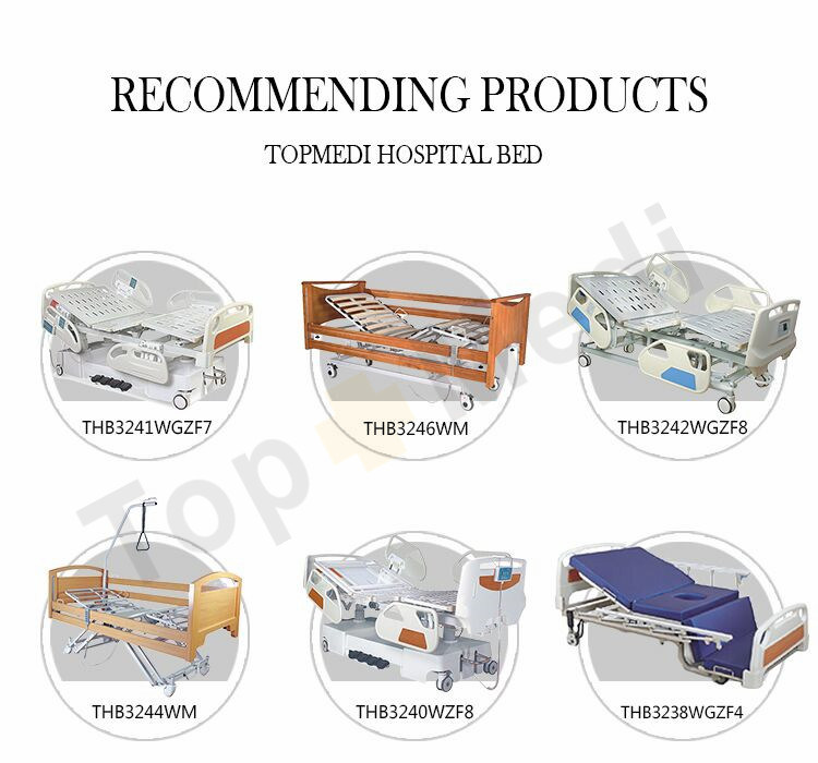 Home Care Device China Supplier 1 Crank Manual Hospital Nursing Bed with Ce ISO FDA