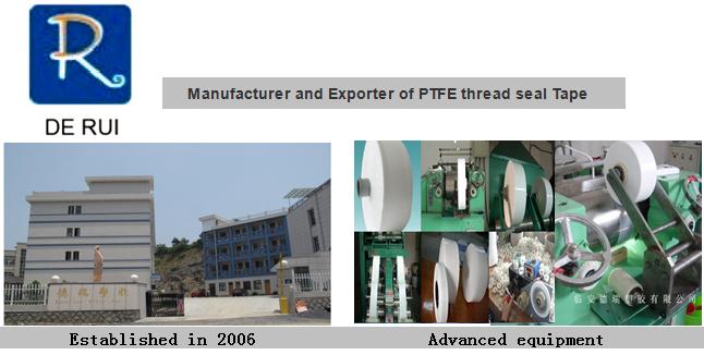 Gas Pipe PTFE Teflon Tape