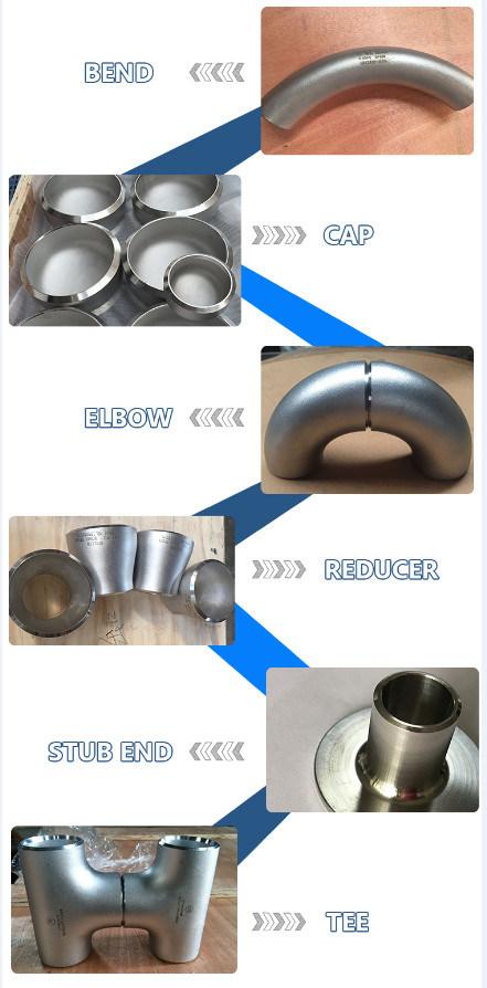 90 Deg R=1.5D Butt Weld Stainless Steel Elbow