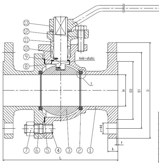 API 6D 150lb 2PC CF8m 3