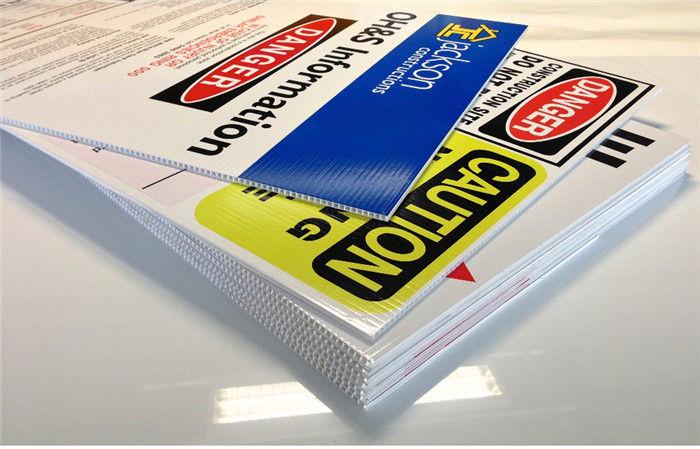 Corrugated Plastic Custom Sign Boards Waterproof Digital Printing