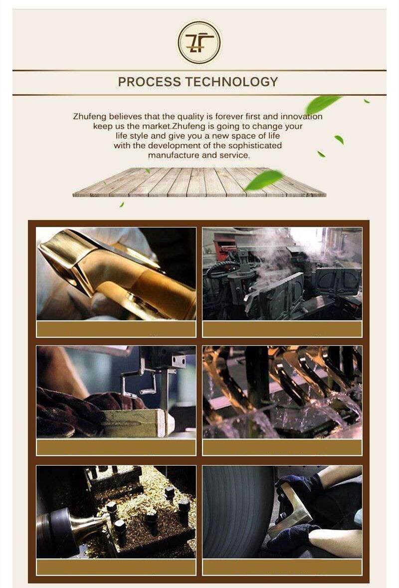 New Design Ceramic Single Handle Zf-609-1 Antique Brass Rain Shower Set