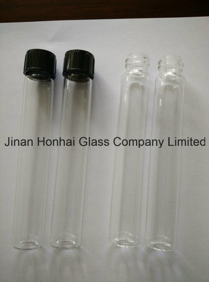 Clear Glass Scew Neck Test Tube with Aluminum Cap
