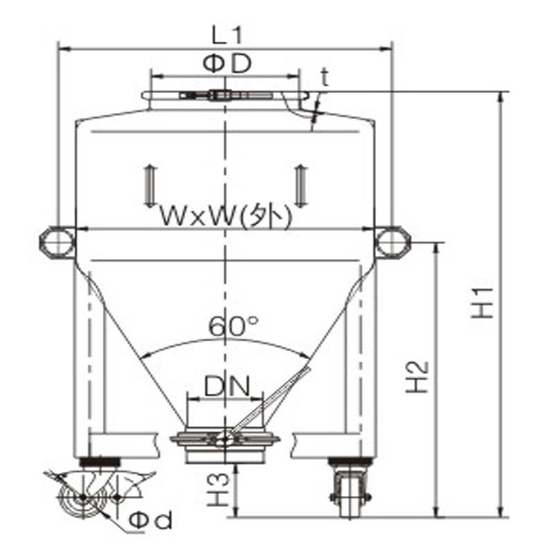 Rlh-300 Column Type Mixing Hopper for Lifting