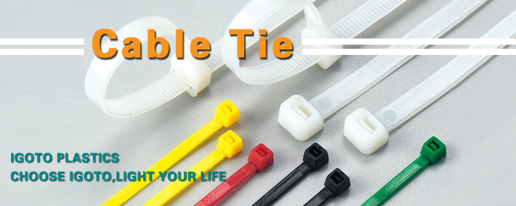 Custom Black/White Nylon Cable Tie with All Size