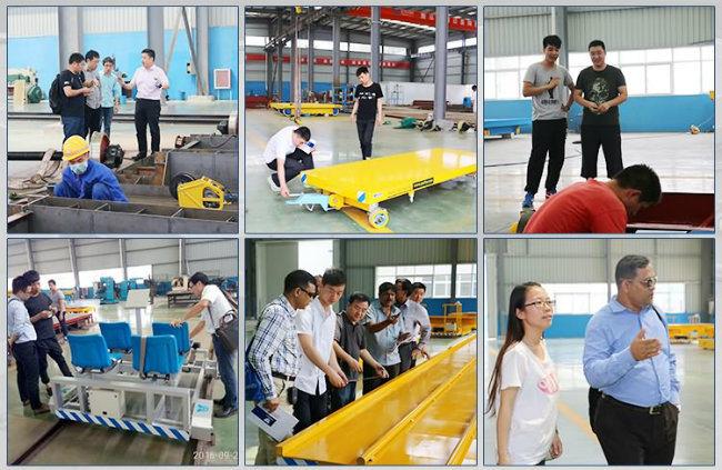 Hydraulic Automatic Rail Handling Trailer Heavy Cargo Shuttling Trolley