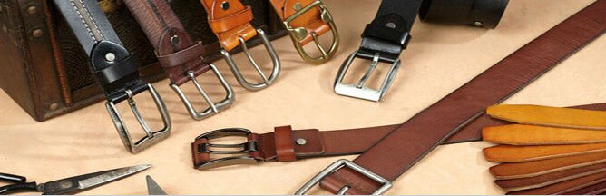New Fashion Double Color Real Leather Belt with Pin Buckle
